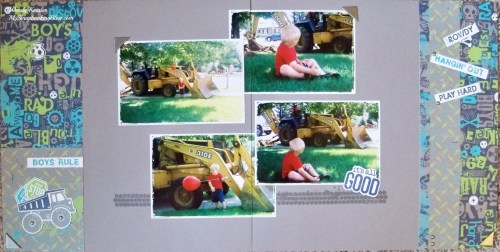 Boy Layout by Wendy Kessler