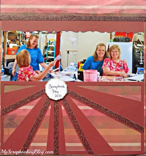 Scrapbook Day Layout by Wendy Kessler