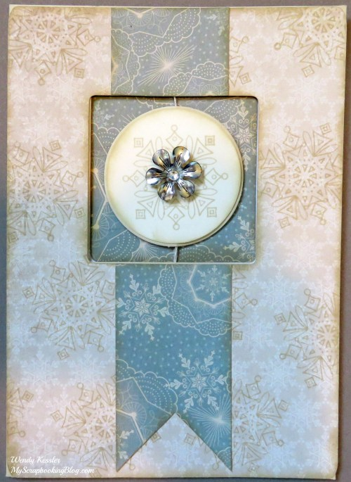Frosted Snowflake Spin Card by Wendy Kessler