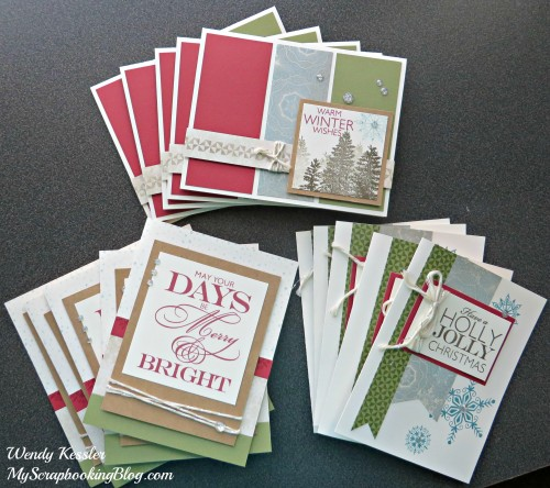 Frosted Christmas Cards by Wendy Kessler
