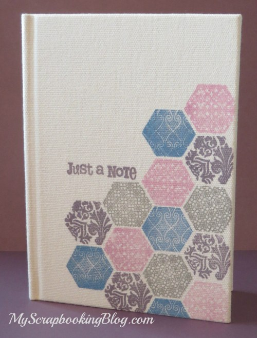 Stamped Canvas Journal by Wendy Kessler