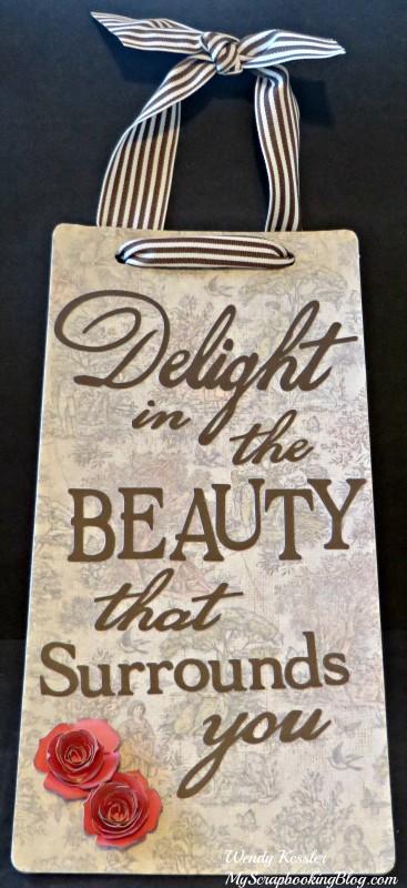 Beauty Wall Hanging by Wendy Kessler