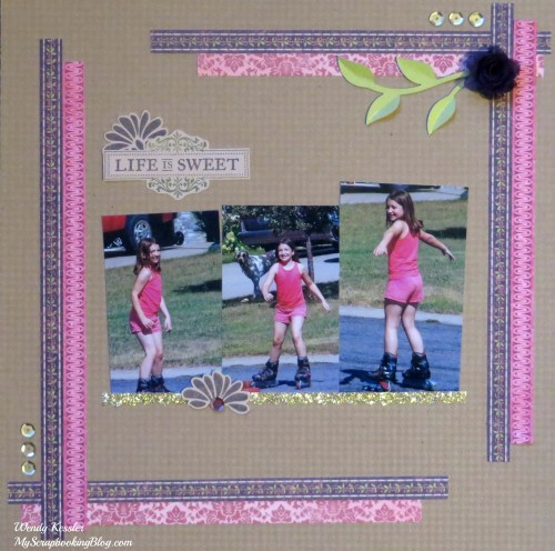 Life is Sweet Layout by Wendy Kessler