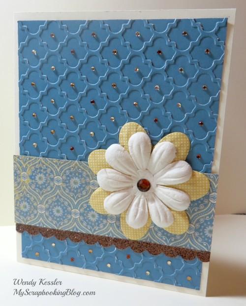Embossed Card by Wendy Kessler