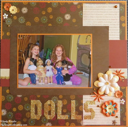 Dolls Layout by Wendy Kessler