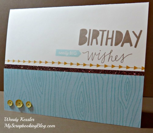 (modified) Birthday Wishes Card by Wendy Kessler