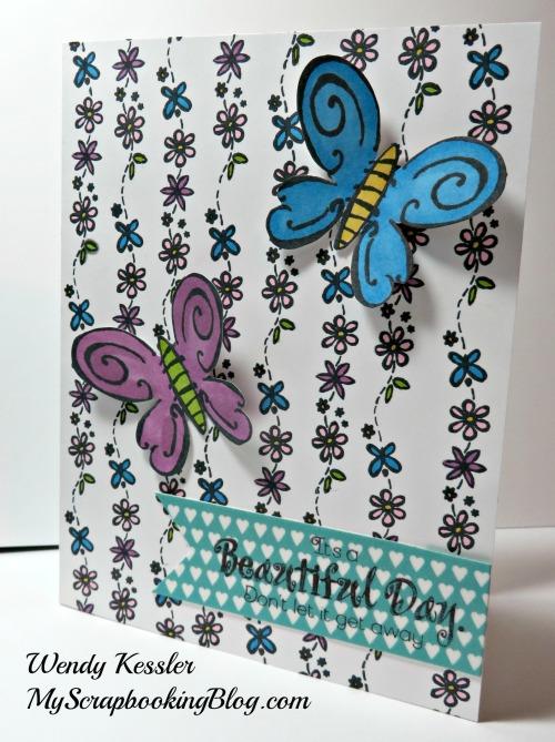 Beautiful Day Card by Wendy Kessler