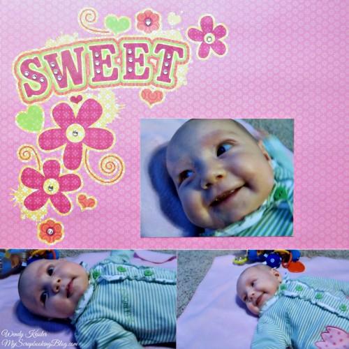Sweet Layout by Wendy Kessler