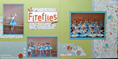 Fireflies Dance Layout by Wendy Kessler