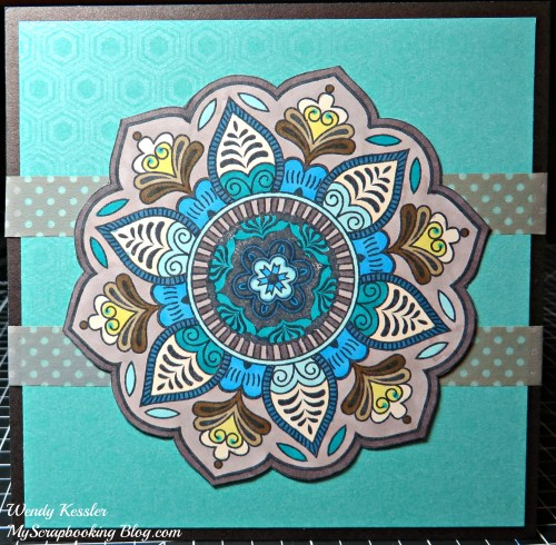 Colored Flower Card by Wendy Kessler