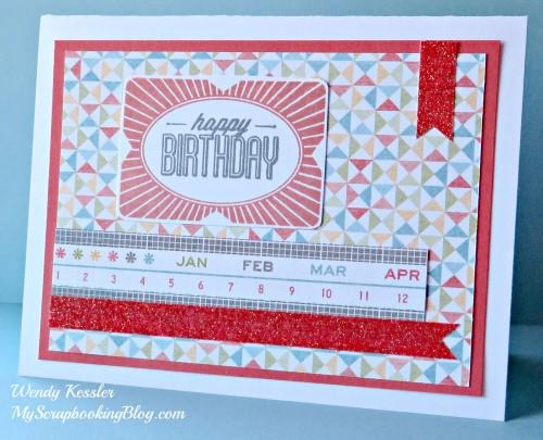 Bright Happy Birthday Card by Wendy Kessler