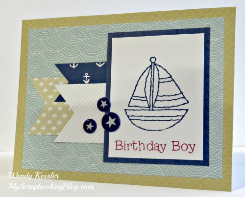Sailboat Card by Wendy Kessler