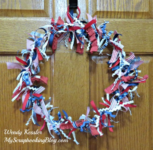 Ribbon Wreath by Wendy Kessler