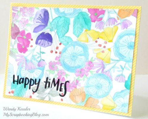 Happy Times Card by Wendy Kessler