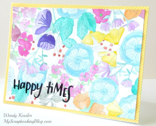 Happy Times Card by Wendy Kessler