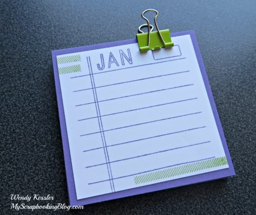 Monthly Notes by Wendy Kessler