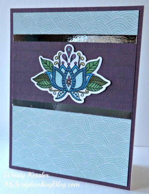 Ornate Blossoms Card by Wendy Kessler