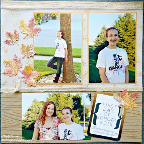 Fall School Layout by Wendy Kessler