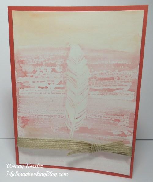 Fall Watercolor Card by Wendy Kessler