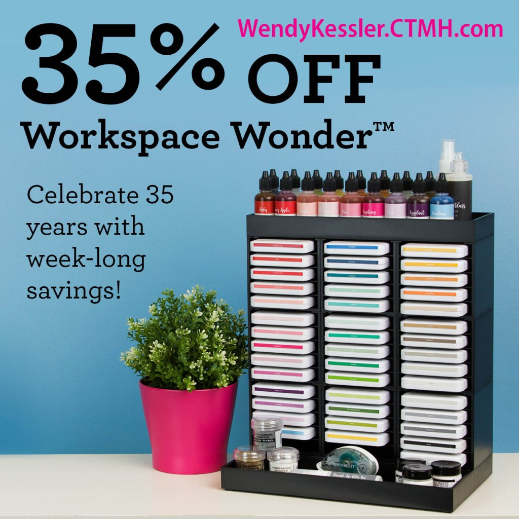 This Workshop Wonder system is the perfect solution to organizing your craft desk!