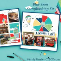 Blue Skies Scrapbooking Kit