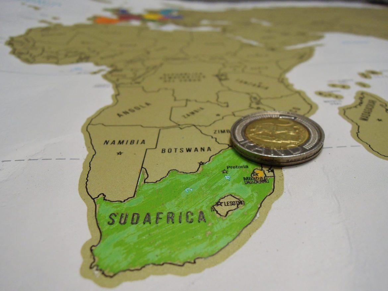 Mappa viaggio in Sudafrica