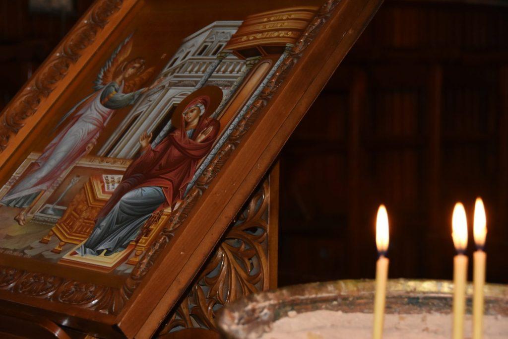 Icona dell'annunciazione a Nazareth