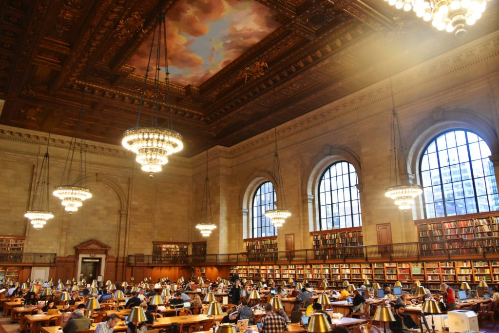 La Reading Room della Public Library