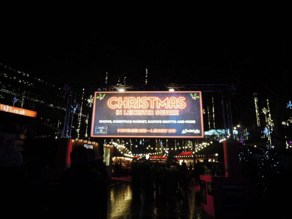 Luci di Natale a Leicester Square