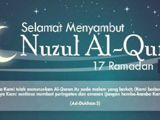 Tarikh Nuzul Al-Quran 2017 Malaysia