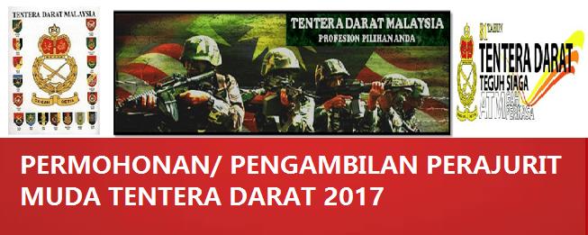 Permohonan Perajurit Muda Tentera Darat 2017