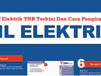Tarif Elektrik TNB Terkini Dan Cara Pengiraan