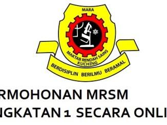 Permohonan MRSM Tingkatan 1 2018 Online