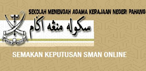 Semakan Keputusan SMAN Pahang Online