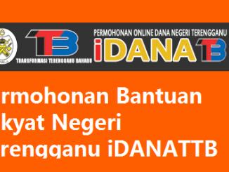 Permohonan iDANATTB Bantuan Rakyat Negeri Terengganu