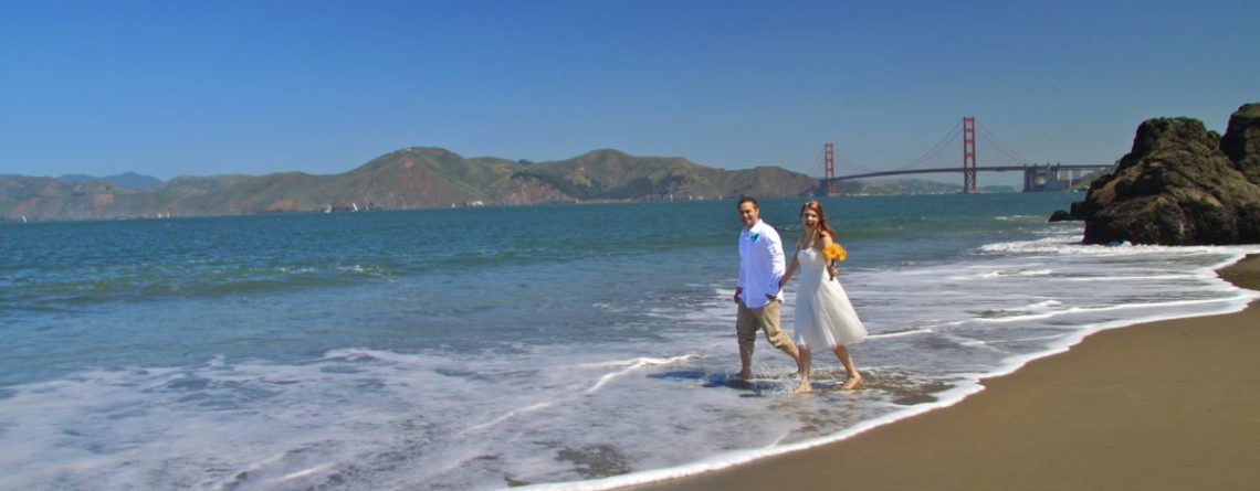 Beautiful San Francisco Beach Wedding