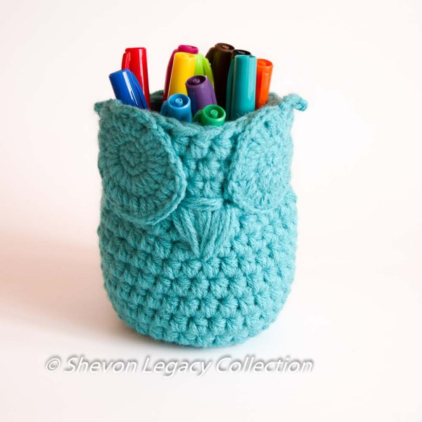 Owl Basket Bin Pen Holder