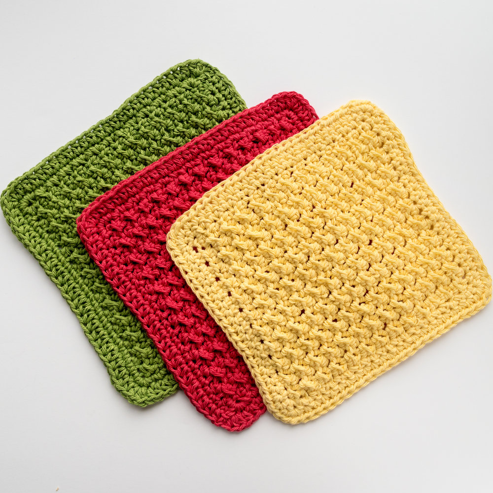 How to crochet the Crunch Stitch Dishcloth