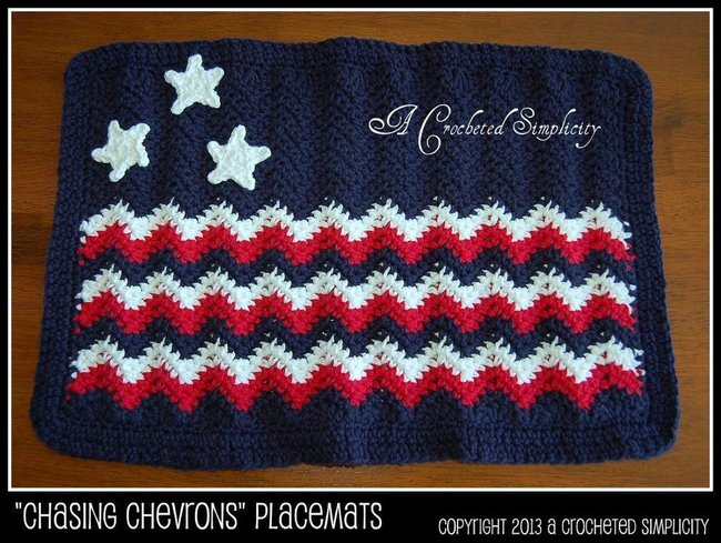 """Chasing Chevrons"" Placemat"