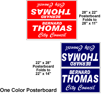 color poster board yard signs
