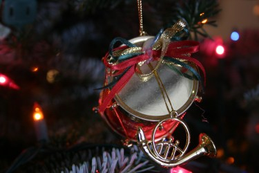 ornaments and Christmas cookies