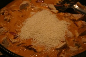 unsweetened coconut in chicken curry
