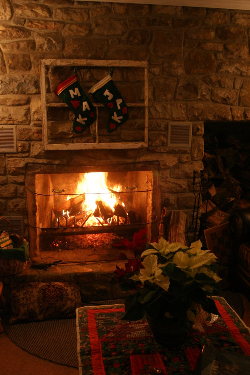 Fireplace on Sanity NIght