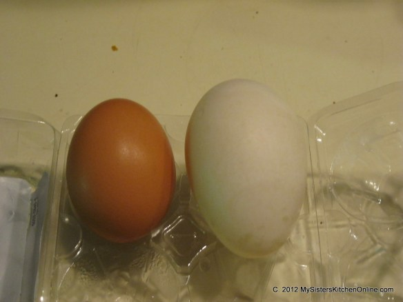 Duck Eggs are much bigger than Chicken Eggs