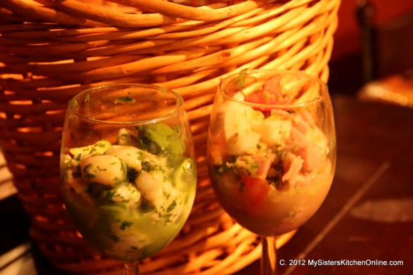 Two types of Ceviche