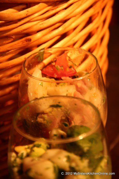 Two spicy versions of Ceviche make a great appetizer