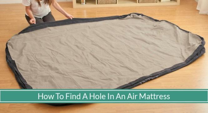 How To Find And Repair An Air Mattress Leak