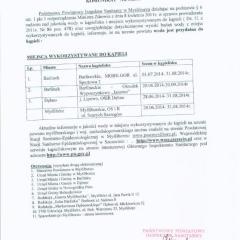Komunikat Nr 1/2014 PPIS Myślibórz