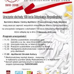 100 lecie Odzyskania Niepodległości – Święto Niepodległości w Myśliborzu