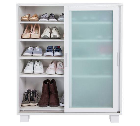 Hygena Tulsa Shoe Storage Cabinet Gloss White